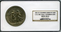 Expositions and Fairs, 1892 World's Columbian Expo Medal, Eglit-37, MS62 NGC. White metal, 65 mm. The obverse shows the four compass points and app...