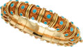 Estate Jewelry:Bracelets, Turquoise, Enamel, Gold Bracelet, Schlumberger for Tiffany &Co., French. ...
