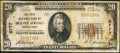 National Bank Notes:Pennsylvania, Beaver Springs, PA - $20 1929 Ty. 1 The First NB of Beaver SpringsCh. # 5777. ...