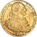 Colombia, Colombia: Charles IV gold 8 Escudos 1800/799 NR-JJ MS62 NGC,...