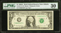 Small Size:Federal Reserve Notes, Fr. 1917-F $1 1988A Federal Reserve Web Note. PMG Very Fine 30.. ...