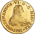 Chile, Chile: Ferdinand VI gold 8 Escudos 1751 So-J MS62 NGC,...
