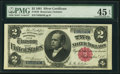 Large Size:Silver Certificates, Fr. 245 $2 1891 Silver Certificate PMG Choice Extremely Fine 45EPQ.. ...