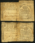 Colonial Notes, New York April 21, 1760 £5; £10 Very Good.... (Total: 2 notes)