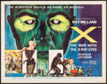"""Movie Posters:Science Fiction, X - The Man with the X-Ray Eyes (American International, 1963).Half Sheet (22"""" X 28""""). Science Fiction.. ..."""
