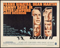 "Movie Posters:Crime, Ocean's 11 (Warner Brothers, 1960). Half Sheet (22"" X 28""). Crime.. ..."