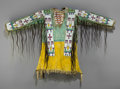 American Indian Art:Beadwork and Quillwork, A Sioux Pictorial Beaded Hide War Shirt . c. 1890... (Total: 2Items)