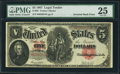 Error Notes:Large Size Errors, Fr. 88 $5 1907 Legal Tender PMG Very Fine 25.. ...