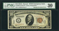 Error Notes:Major Errors, Fr. 2303 $10 1934A Hawaii Federal Reserve Note. PMG Very Fine 30.....