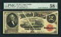 Error Notes:Large Size Errors, Fr. 58 $2 1917 Legal Tender PMG Choice About Unc 58 EPQ.. ...
