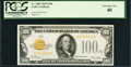 Small Size:Gold Certificates, Fr. 2405 $100 1928 Gold Certificate. PCGS Extremely Fine 40.. ...