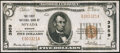National Bank Notes:Missouri, Nevada, MO - $5 1929 Ty. 1 The First NB Ch. # 3959. ...