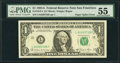 Fr. 1912-L $1 1981A Federal Reserve Note. PMG About Uncirculated 55