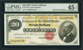 Large Size:Gold Certificates, Fr. 1178 $20 1882 Gold Certificate PMG Choice Extremely Fine 45 EPQ.. ...