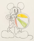 Animation Art:Production Drawing, Around the World in 80 Minutes Mickey Mouse AnimationDrawing (Walt Disney, 1931)....