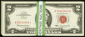Small Size, Fr. 1513 $2 1963 Legal Tender Notes. 100 Consecutive.. ... (Total: 100 notes)