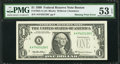 Fr. 1924-A $1 1999 Federal Reserve Note. PMG About Uncirculated 53 EPQ