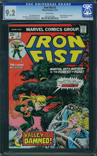 Iron Fist #2 (Marvel, 1975) CGC NM- 9.2 White pages
