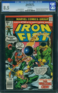 Bronze Age (1970-1979):Superhero, Iron Fist #11 (Marvel, 1977) CGC VF+ 8.5 White pages.