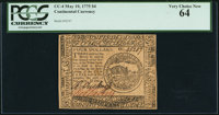 Continental Currency May 10, 1775 $4 PCGS Very Choice New 64