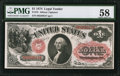 Large Size:Legal Tender Notes, Fr. 19 $1 1874 Legal Tender PMG Choice About Unc 58.. ...