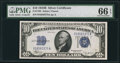Small Size:Silver Certificates, Fr. 1703 $10 1934B Silver Certificate. PMG Gem Uncirculated 66 EPQ.. ...