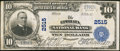 National Bank Notes:Pennsylvania, Ephrata, PA - $10 1902 Plain Back Fr. 633 The Ephrata NB Ch. #2515. ...