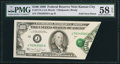 Error Notes:Foldovers, Fr. 2173-J $100 1990 Federal Reserve Note. PMG Choice About Unc 58EPQ.. ...
