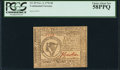 Colonial Notes:Continental Congress Issues, Continental Currency November 2, 1776 $8 PCGS Choice About New 58PPQ.. ...