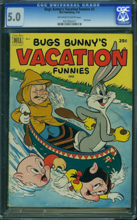 Dell Giant Comics Bugs Bunny Vacation F #2 (Dell, 1952) CGC VG/FN 5.0 Off-white to white pages