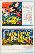 """Movie Posters:Adventure, Barabbas (Columbia, 1962). Half Sheets (2) (22"""" X 28"""") Styles A& B. Adventure.. ... (Total: 2 Items)"""