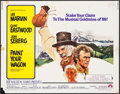 """Movie Posters:Musical, Paint Your Wagon (Paramount, 1969). Half Sheet (22"""" X 28""""). Musical.. ..."""