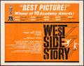 "Movie Posters:Academy Award Winners, West Side Story (United Artists, 1962). Half Sheet (22"" X 28"").Academy Award Winners.. ..."
