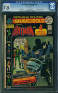 Bronze Age (1970-1979):Superhero, The Brave and the Bold #100 (DC, 1972) CGC VF- 7.5 Off-white pages.