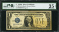 Small Size:Silver Certificates, Fr. 1601 $1 1928A Silver Certificate. D-A Block. PMG Choice Very Fine 35 Net.. ...