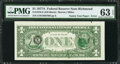 Error Notes:Third Printing on Reverse, Natick Test Paper Error Fr. 1910-E $1 1977A Federal Reserve Note. PMG Choice Uncirculated 63 EPQ.. ...