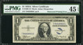 Error Notes:Obstruction Errors, Fr. 1608 $1 1935A Silver Certificate. PMG Choice Extremely Fine 45EPQ.. ...