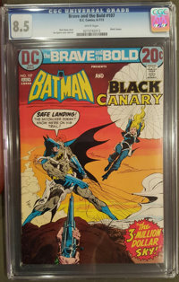 The Brave and the Bold #107 (DC, 1973) CGC VF+ 8.5 White pages