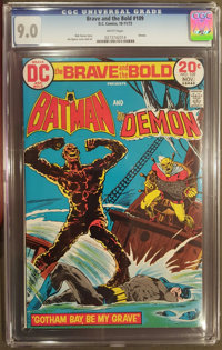 The Brave and the Bold #109 (DC, 1973) CGC VF/NM 9.0 White pages