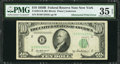 Error Notes:Obstruction Errors, Fr. 2012-B $10 1950B Federal Reserve Note. PMG Choice Very Fine 35EPQ.. ...