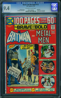 The Brave and the Bold #113 (DC, 1974) CGC NM 9.4 Off-white to white pages