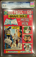 Bronze Age (1970-1979):Superhero, The Brave and the Bold #113 (DC, 1974) CGC VF 8.0 White pages.