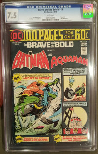 The Brave and the Bold #114 (DC, 1974) CGC VF- 7.5 White pages