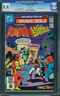 The Brave and the Bold #179 (DC, 1981) CGC NM 9.4 White pages