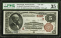 National Bank Notes:Pennsylvania, Pittsburgh, PA - $5 1882 Brown Back Fr. 477 The Bank of Pittsburgh,National Assoc Ch. # (E)5225. ...