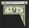 Error Notes:Foldovers, Fr. 2027-B $10 1985 Federal Reserve Note. PMG About Uncirculated 53EPQ.. ...
