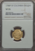 Colombia, Colombia: Charles III gold Escudo 1788 P-SF VF35 NGC,...