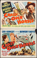 "Movie Posters:Sports, Crazy Over Horses (Monogram, 1951). Half Sheets (2) (22"" X 28"") Styles A & B. Sports.. ... (Total: 2 Items)"