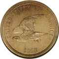 """Patterns: , 1858 P1C Flying Eagle Cent, Judd-202, Pollock-246, PR64 NGC.Snow-PT20, R.7. Snow states, """"A very rare pattern, probably no..."""