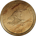 Patterns: , 1858 P1C Flying Eagle Cent, Judd-203, Pollock-247, R.5, PR63 NGC.Snow-PT18. The flying eagle is smaller in scale and diffe...
